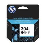HP - Оригинална мастилница 304 Black, N9K06AE